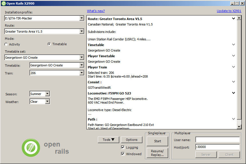 5  Getting Started — Open Rails 1 2 3706 (draft) documentation